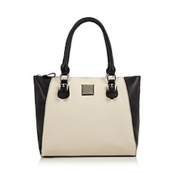 The Collection - Cream monochrome tote bag