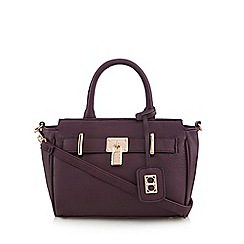The Collection - Purple belted small tote bag