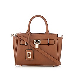The Collection - Tan belted small tote bag
