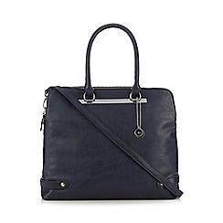 The Collection - Navy bar front three part tote bag
