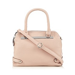 The Collection - Pink small belted tote bag
