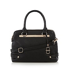The Collection - Black metal bar trim small tote bag