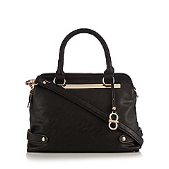 The Collection - Black colourblock small tote
