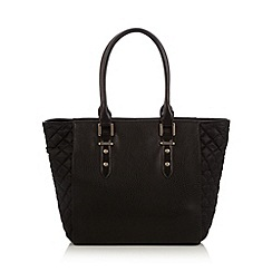 The Collection - Black quilted tote bag