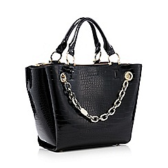 The Collection - Black jacquard padlock grab bag