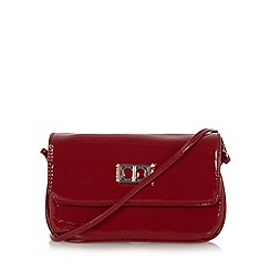 The Collection - Red patent cross body bag