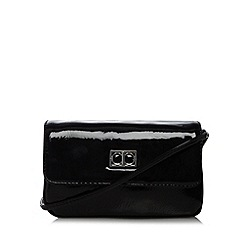 The Collection - Black patent cross body bag