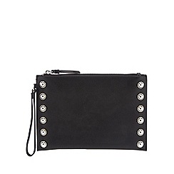 The Collection - Black croc effect shoulder bag