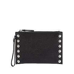 The Collection - Black croc effect shoulder bag