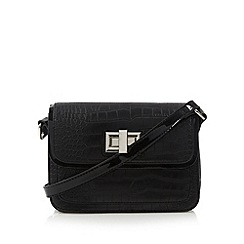The Collection - Black croc cross body bag