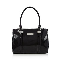 The Collection - Black high shine three section bag