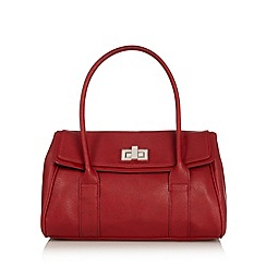 The Collection - Red patent trim shoulder bag