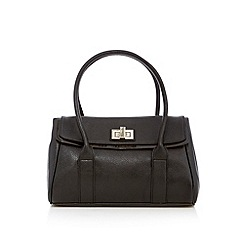 Beach Collection - Black patent trim shoulder bag