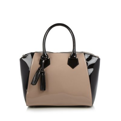 The Collection Pale pink patent winged grab bag - One Size.  Size - One Size