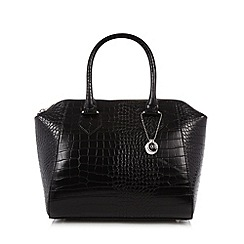 The Collection - Black mock croc winged grab bag
