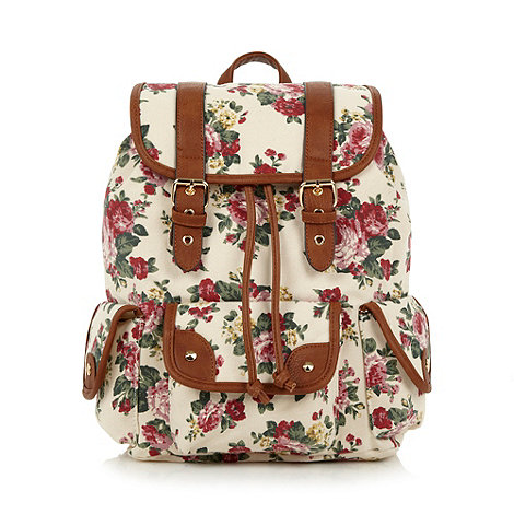 Call It Spring - Cream +Propper+ rose print duffle backpack