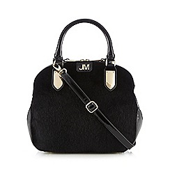 Star by Julien Macdonald - Black faux pony dome bag