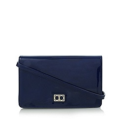 The Collection - Dark blue patent underarm bag