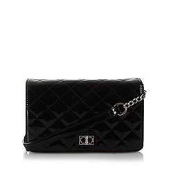 The Collection - Black patent quilted underarm bag