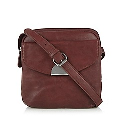 The Collection - Wine flap over pocket cross body bag