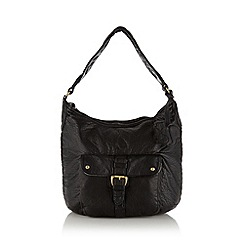 Mantaray - Black squirrel charm shoulder bag