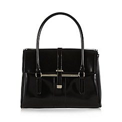 J by Jasper Conran - Designer black metal bar tote bag