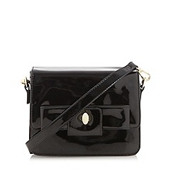 Principles by Ben de Lisi - Designer black patent bow cross body bag
