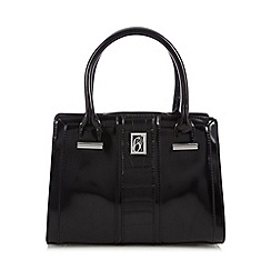Principles by Ben de Lisi - Designer black mock croc panel small grab bag