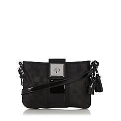 Principles by Ben de Lisi - Designer black jacquard check cross body bag