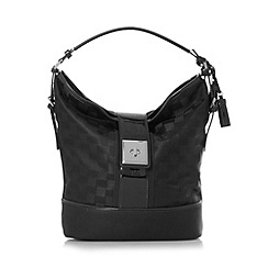 Principles by Ben de Lisi - Black checked silver rim handbag