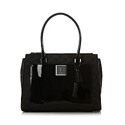 Principles by Ben de Lisi - Designer black jacquard patent trim work bag