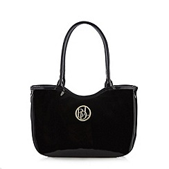 Principles by Ben de Lisi - Designer black patent animal print grab bag