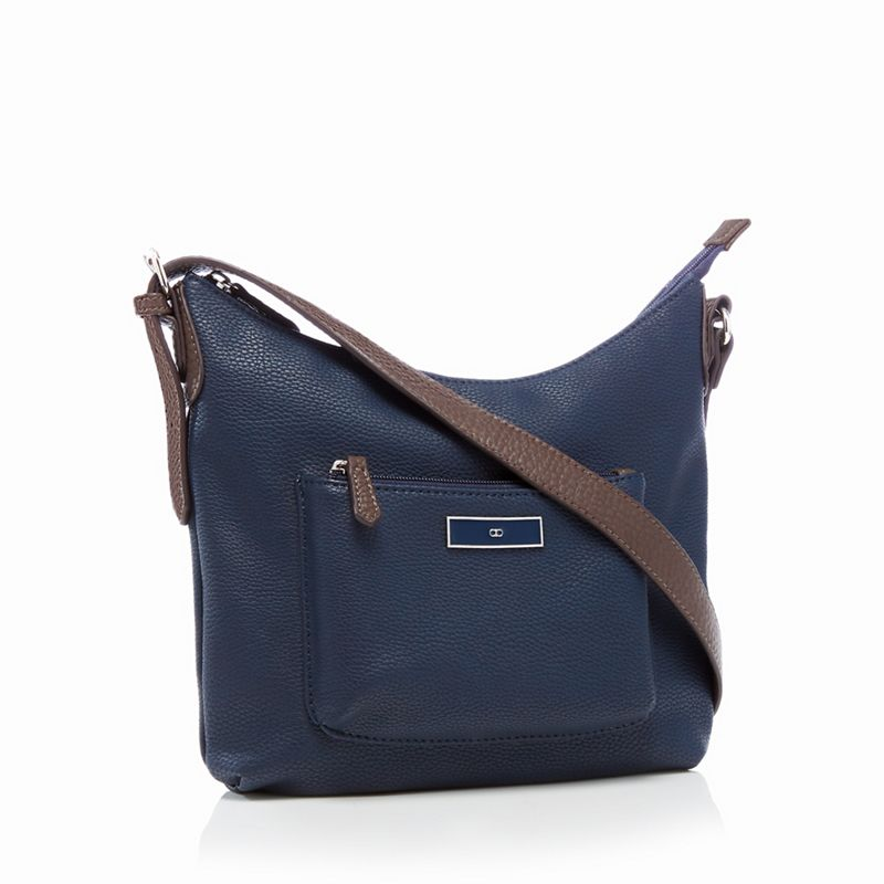 The Collection - Navy Scoop Cross Body Bag