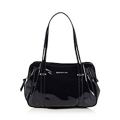 RJR.John Rocha - Designer navy patent shoulder bag