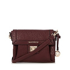 RJR.John Rocha - Designer wine elephant grain cross body bag
