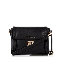 RJR.John Rocha - Designer black elephant grain cross body bag
