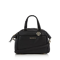 RJR.John Rocha - Designer black leather studded bowling bag