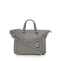 RJR.John Rocha - Designer pale grey leather grab bag