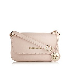 RJR.John Rocha - Designer light pink leather cross body bag