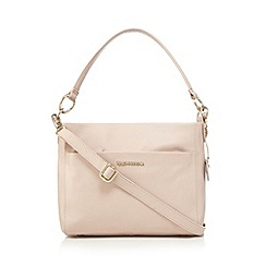 RJR.John Rocha - Designer light pink leather logo plate grab bag