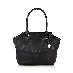 Fiorelli - Black mock croc three part tote bag