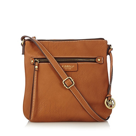Fiorelli - Tan zip top cross body bag