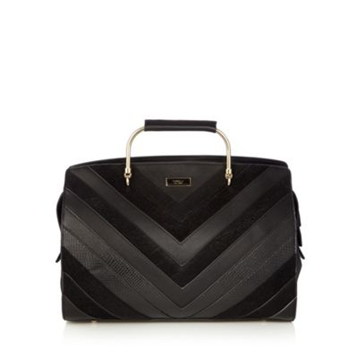 Fiorelli Black contrast chevron panel grab bag - One Size.  Size - One Size