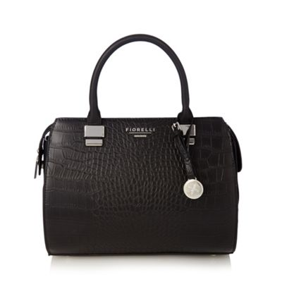 Fiorelli Black croc effect grab bag - One Size.  Size - One Size