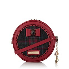 Floozie by Frost French - Dark pink checked front cross body bag