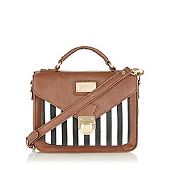 H! by Henry Holland - Designer tan zebra stripe satchel