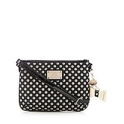 Floozie by Frost French - Black logo spotted cross body bag