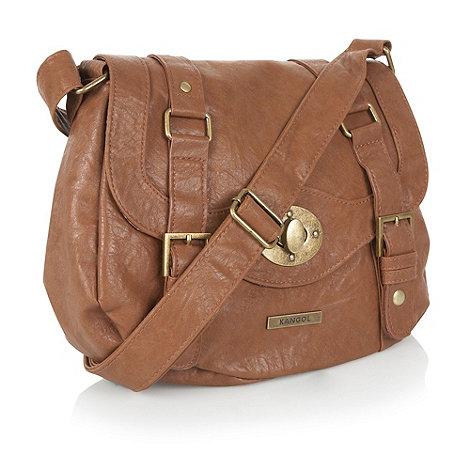 Kangol - Tan small satchel handbag