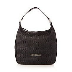 Versace Jeans - Black wave textured hobo bag