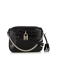 Versace Jeans - Black mock croc cross body bag